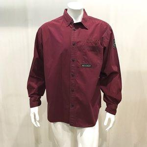 Harley Davidson Men's Burgundy Mechanic Shirt
